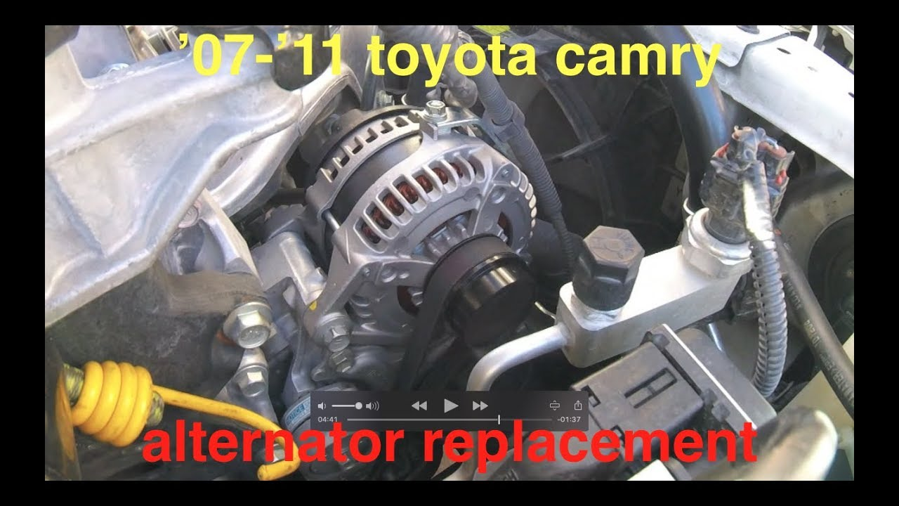 alternator not charging battery light on toyota camry 2 5l fix