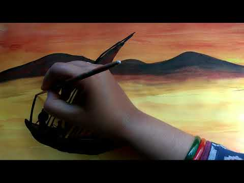 Easy water colour landscape painting by hema