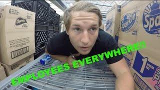 building a toilet paper fort in walmart stroller fort