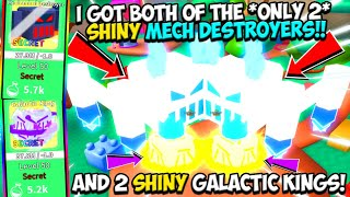 I TRADED FOR *BOTH* SHINY MECH DESTROYERS!! MOST RARE PET!! - Science Simulator (Roblox)