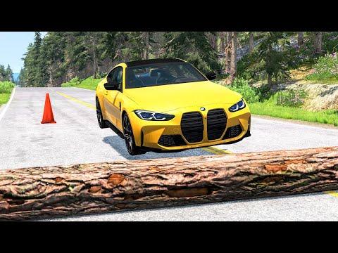 Cars Vs Fallen Tree #1 – BeamNG Drive | CrashBoomPunk