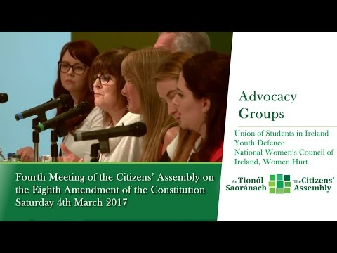 Advocacy Groups and Representative Organisations: Session 2 - Citizens' Assembly (March 5 2017)