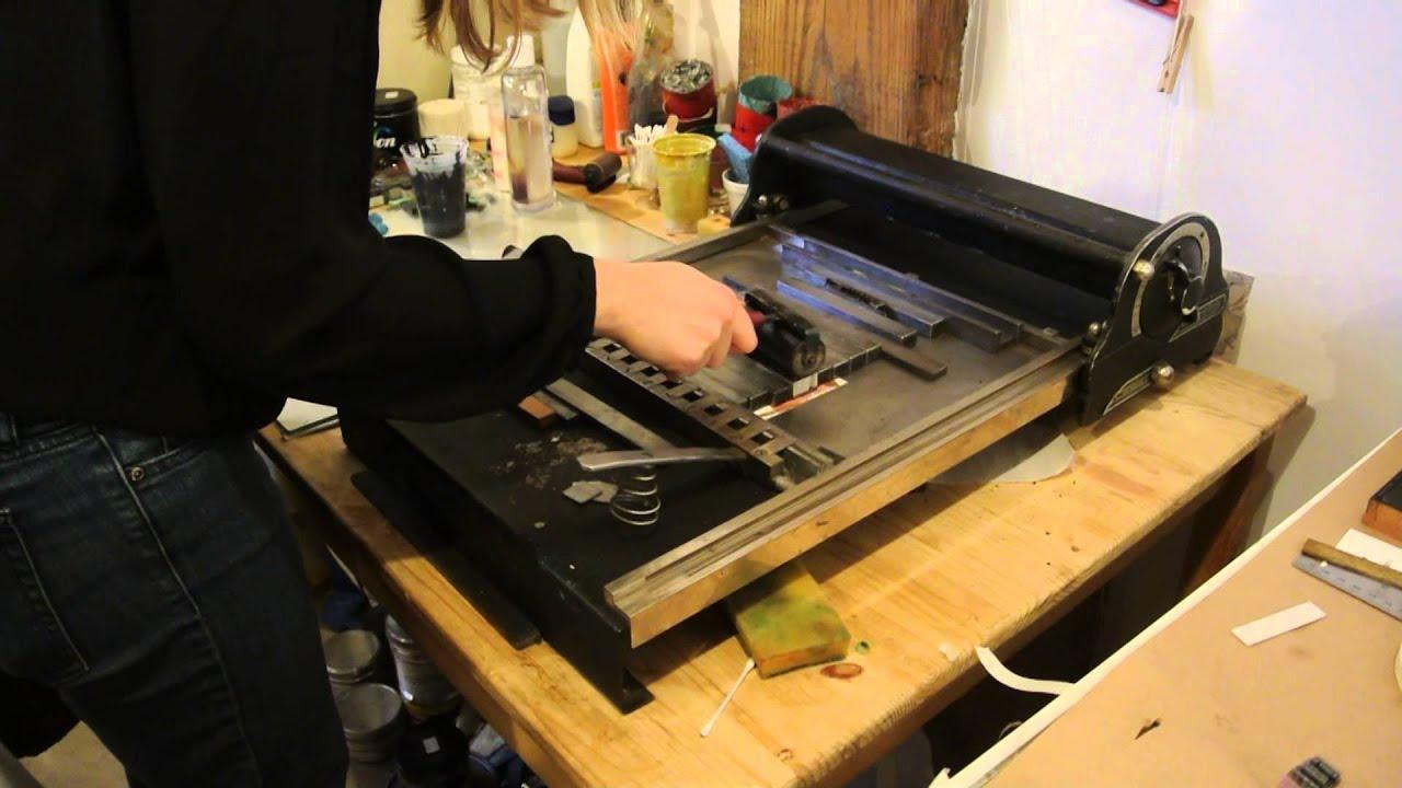 Letterpress Flatbed Cylinder Printing Demo