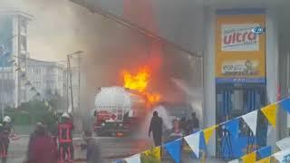 Tuzla'da Bir Benzin İstasyonunda Patlama
