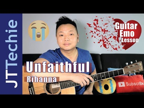 How to Play Unfaithful by Rihanna on Acoustic Guitar for Beginners | SUPER EASY | Guitar Emo