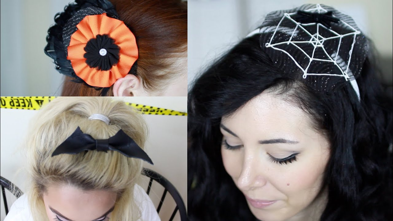 Easy DIY Halloween Hair Accessories - with RoxyRocksTV and Nicole ...