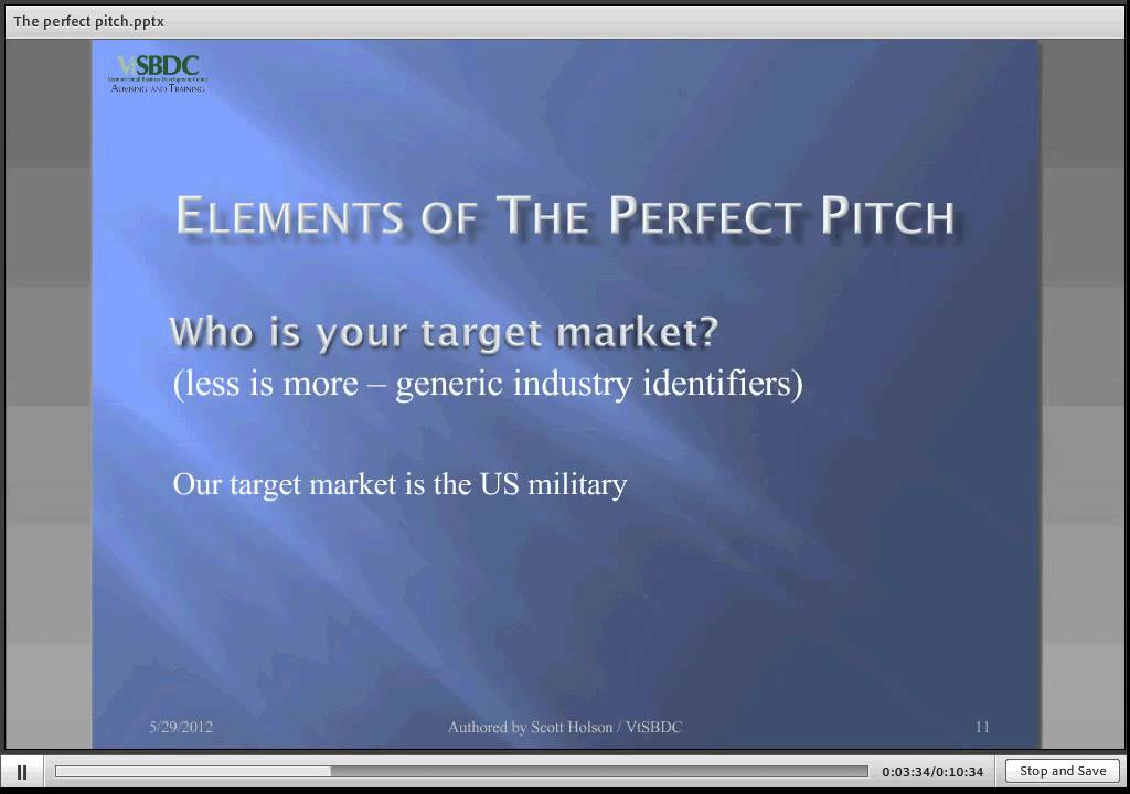 How to Craft a Perfect Three Minute Pitch - YouTube