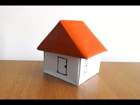 How to make a paper house easily origami step by for How to make a house step by step