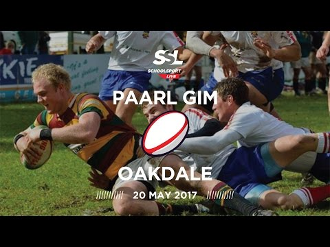 Paarl Gim 1st XV vs Oakdale 1st XV, 20 May 2017