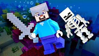 Майнкрафт видео - Нуб под водой в Minecraft – Летсплей игры в шоу для детей.
