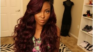 Repeat youtube video TUTORIAL! Sexy Vibrant Color! How I curl my hair (Talk Through Tutorial)