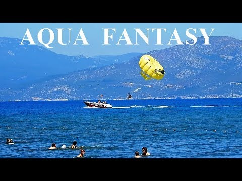 Water Sports at Aqua Fantasy Beach || 4K  - Kusadasi Selcuk Turkey