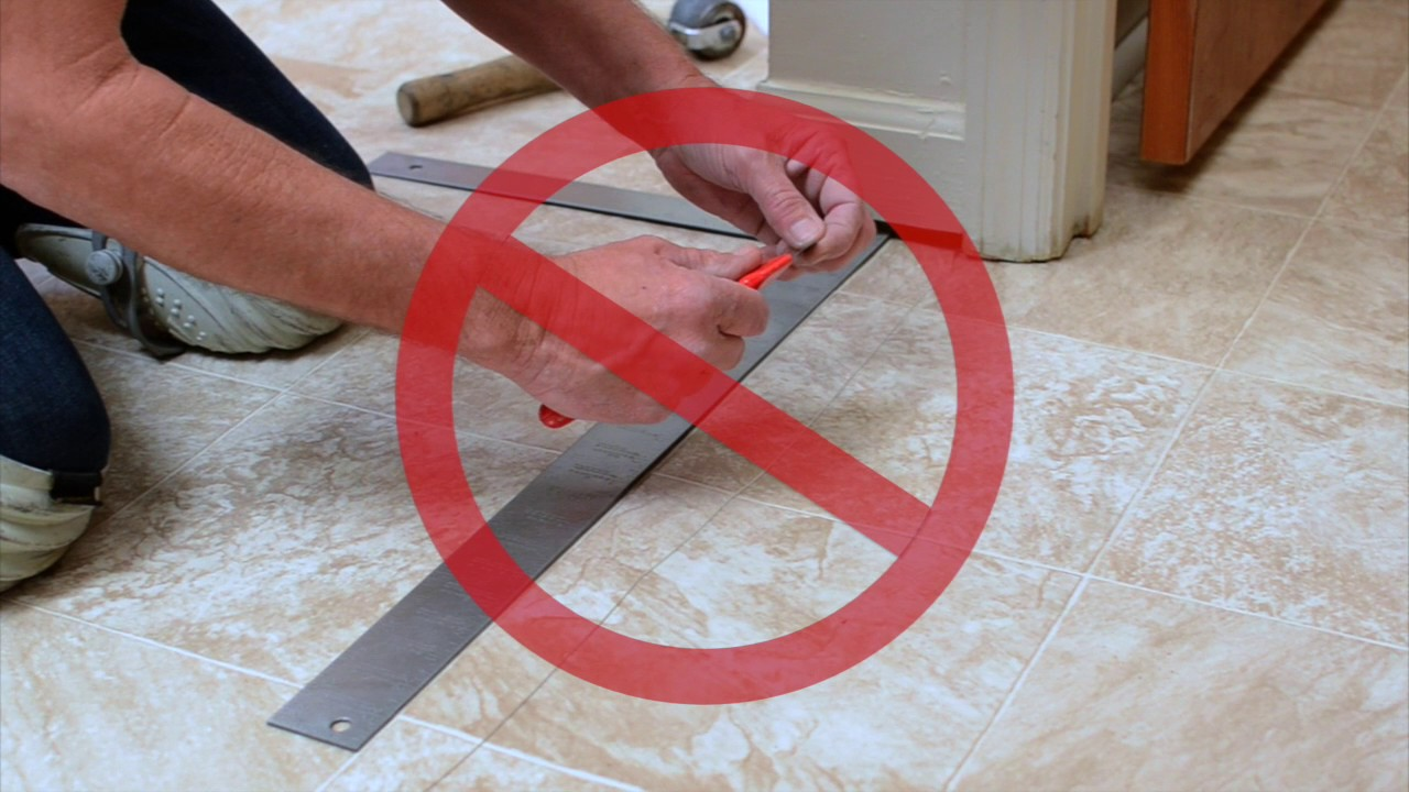 How To Cut A Seam In Sheet Vinyl Flooring