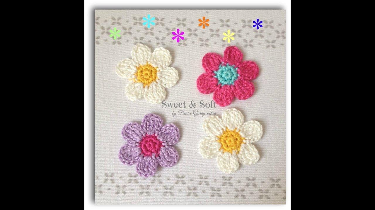 Como hacer una flor a crochet ...La magia del crochet - YouTube