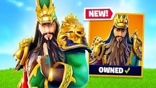 "*NEW* Dynasty Warriors ""Guan Yu"" Skin, Pickaxe & Glider! (Fortnite Live Gameplay)"