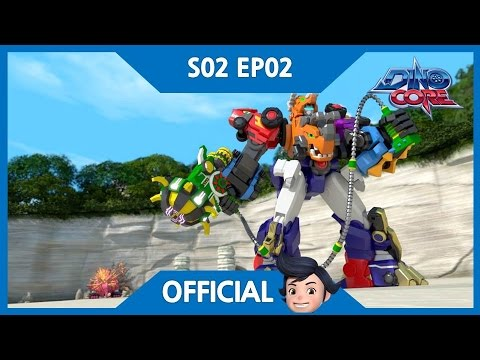 [DinoCore] Official | The appearance of New DinoCore, Tri | Triceratops Robot | Season 2 EP02