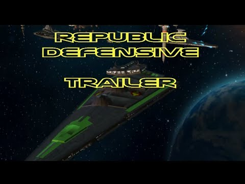 Star Wars Republic Defense Space Battle Trailer
