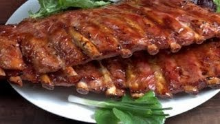 Как приготовить ребра в маринаде на гриле.   How to cook ribs marinated grilled.
