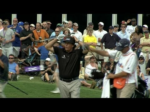 Phil Mickelson nearly holes out on 18 at FedEx St. Jude Classic