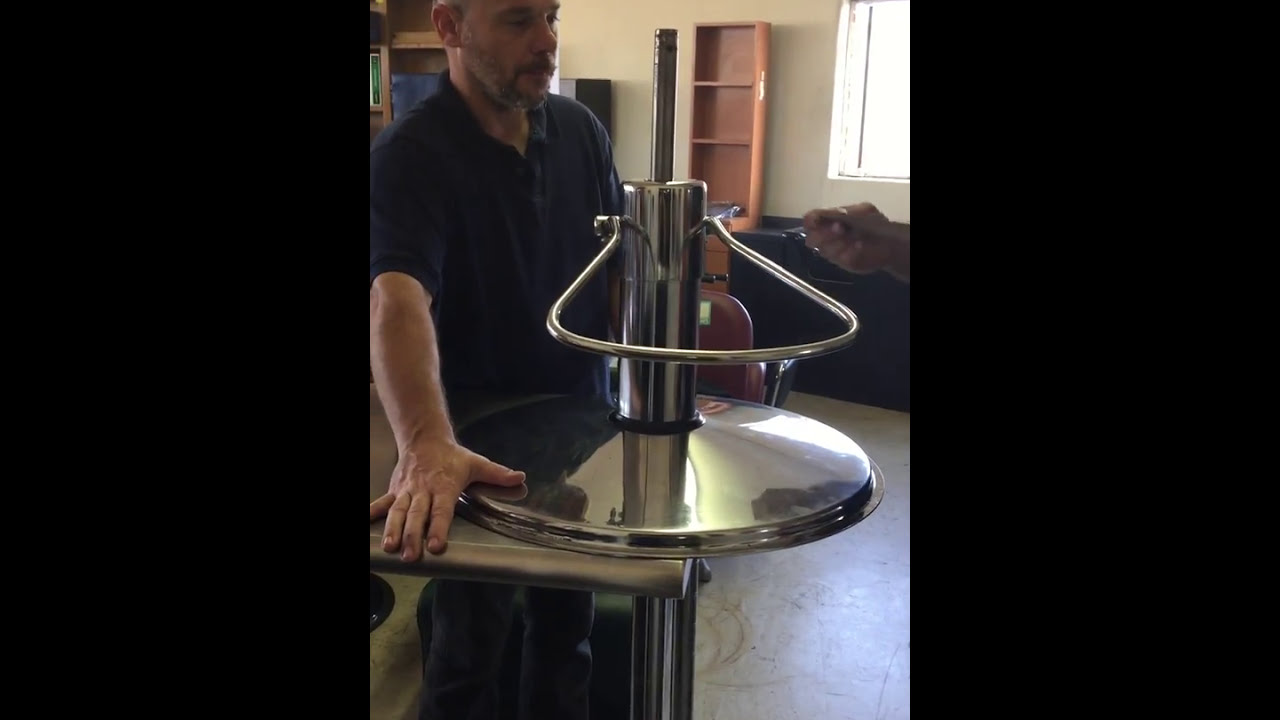 how to install a rubber base ring on a hydraulic styling chair youtube