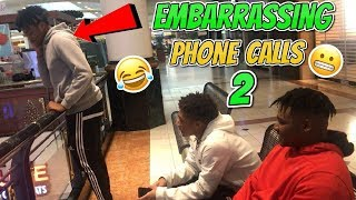 EMBARRASSING PHONE CALLS PRANK IN THE MALL (PART 2) *GONE WRONG