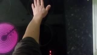 видео Электрическая варочная панель