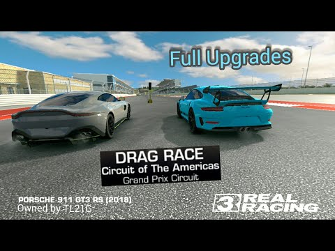 Real Racing 3 Porche 911 GT3 Rs All Upgrades Drag Times | RR3 GAMEPLAY