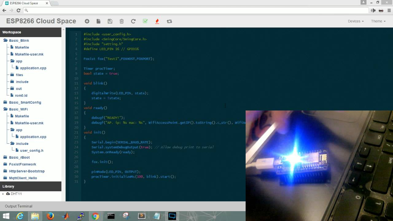 ESP8266 NodeMCU Online IDE (compile & flash ROM via online with rBoot  switch ROM compatible)