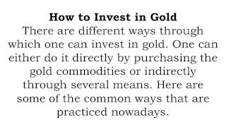 Why Should You Invest In Gold? Advantages Of Gold Investing
