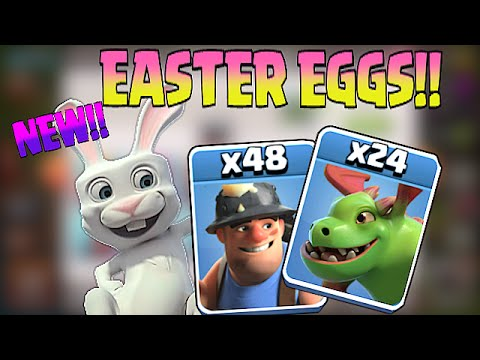 Clash Of Clans - ALL EASTER EGGS!?! (Sound effects,Movable icons & More!)