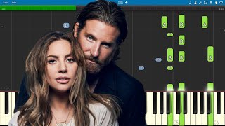 I'll Never Love Again - Piano Tutorial - PIANO ONLY - Lady Gaga & Bradley Cooper - A Star Is Born Video