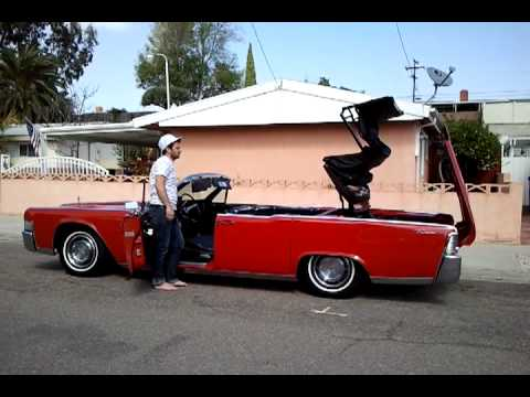 1965 lincoln continental convertible drop the top youtube. Black Bedroom Furniture Sets. Home Design Ideas