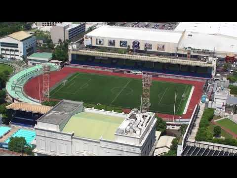 File footage - Manila aerial shots - Taft, DLSU, Rizal Memorial Complex [Manila; Jun 2015] HD