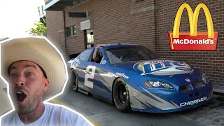 homepage tile video photo for We Drove the NASCAR to McDONALDS's!!