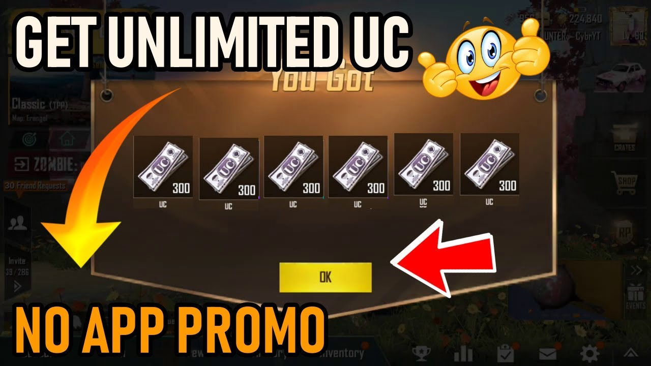 GET UNLIMITED UC IN PUBG MOBILE NEW TRICK GET EVERY DAY FREE UC