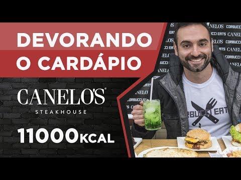 Devorando cardápios! Canelos Steak House (4.5kg, 11000kcal)