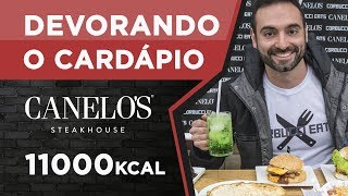 Devorando cardápios! Canelo's Steak House (4.5kg, 11000kcal)
