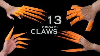 13 Awesome paper #origami #claws