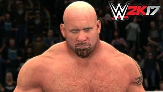 WWE 2K17 - Xbox 360 / Ps3 Gameplay Extreme Rules Goldberg '98 vs Brock Lesnar