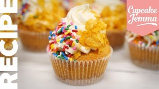 Cereal Milk Cupcakes Inspired by Milk Bar | Cupcake Jemma