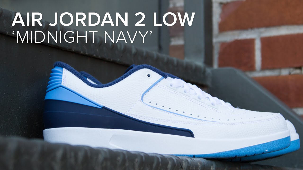 a98edab224b Air Jordan 2 Low  Midnight Navy  Quick On Feet and Detailed Look ...