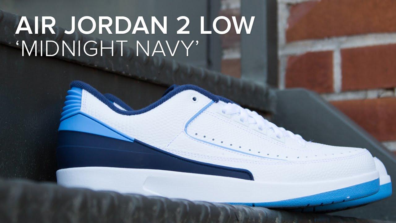 sale retailer d21e6 d8797 Air Jordan 2 Low  Midnight Navy  Quick On Feet and Detailed Look
