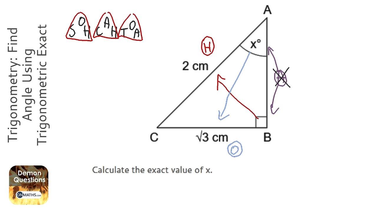Trigonometry: Find Angle Using Trigonometric Exact Values (Grade 5) - OnMaths GCSE Maths Revision