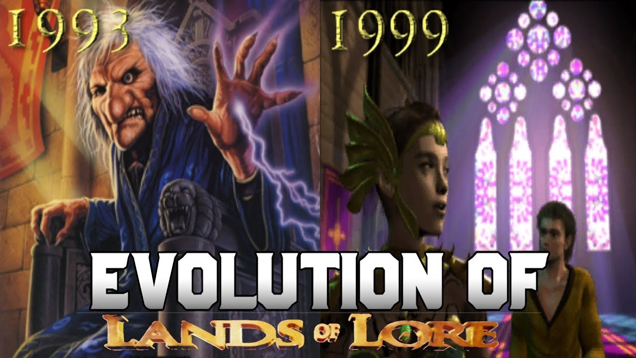 Graphical Evolution of Lands of Lore (1993-1999)