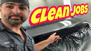 Car Painting: THE SECRETS to Cleaner Jobs! Slick BLACK Paint!