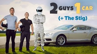 Battling the stig on the top gear test track