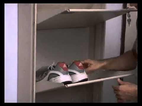 Prab Wall Mounted Space Saving Shoe Racksflv  YouTube