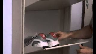 Prab Wall Mounted Space Saving Shoe Racks.flv