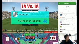 Amiens - Marseille [PES 2018] | Ligue 1 Conforama 2017-2018 (6ème Journée) | IA Vs. IA HD