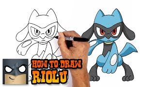 How to Draw Riolu | Pokemon (Step by Step Drawing Tutorial)